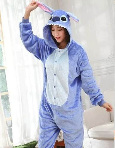 Pijama Kigurumi Cosplay Fantasia Lillo E Stitch Adulto