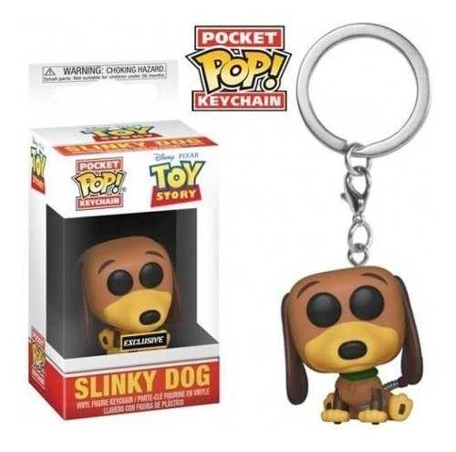 Funko Pop Keychain Chaveiro Exclusivo Toy Story 4 Slinky Dog