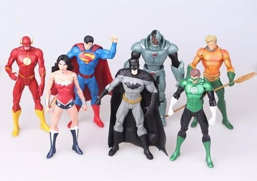 Coleção Bonecos Liga Da Justiça 7 Unidades Pronta Entrega