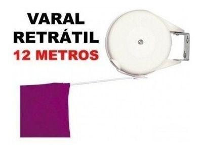 Varal Retrátil Multiangular Sublime Em Aço 12 M Branco - Mor
