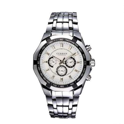 Relógio Curren 8084 Luxo Quartz Aço Inoxidável Pronta Entrega