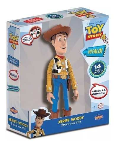 Boneco Woody Toy Story Com 14 Frases - Toyng 38191 Original