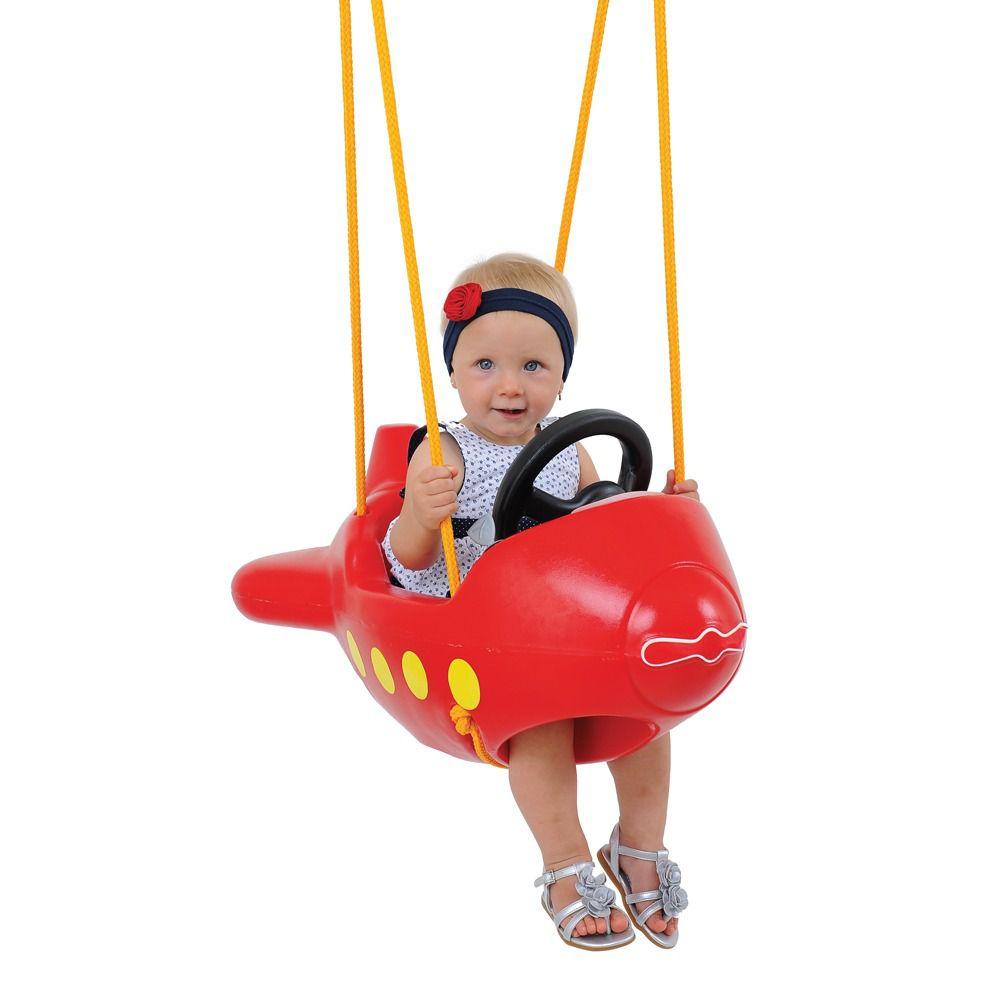 Balanço Infantil Avião Vermelho - Xalingo