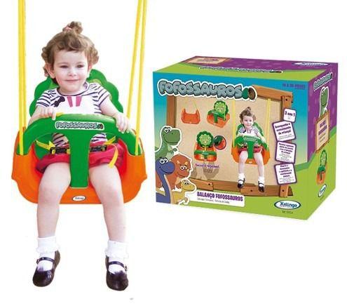 Balanço Infantil Fofossauros Com Encosto 09254 - Xalingo