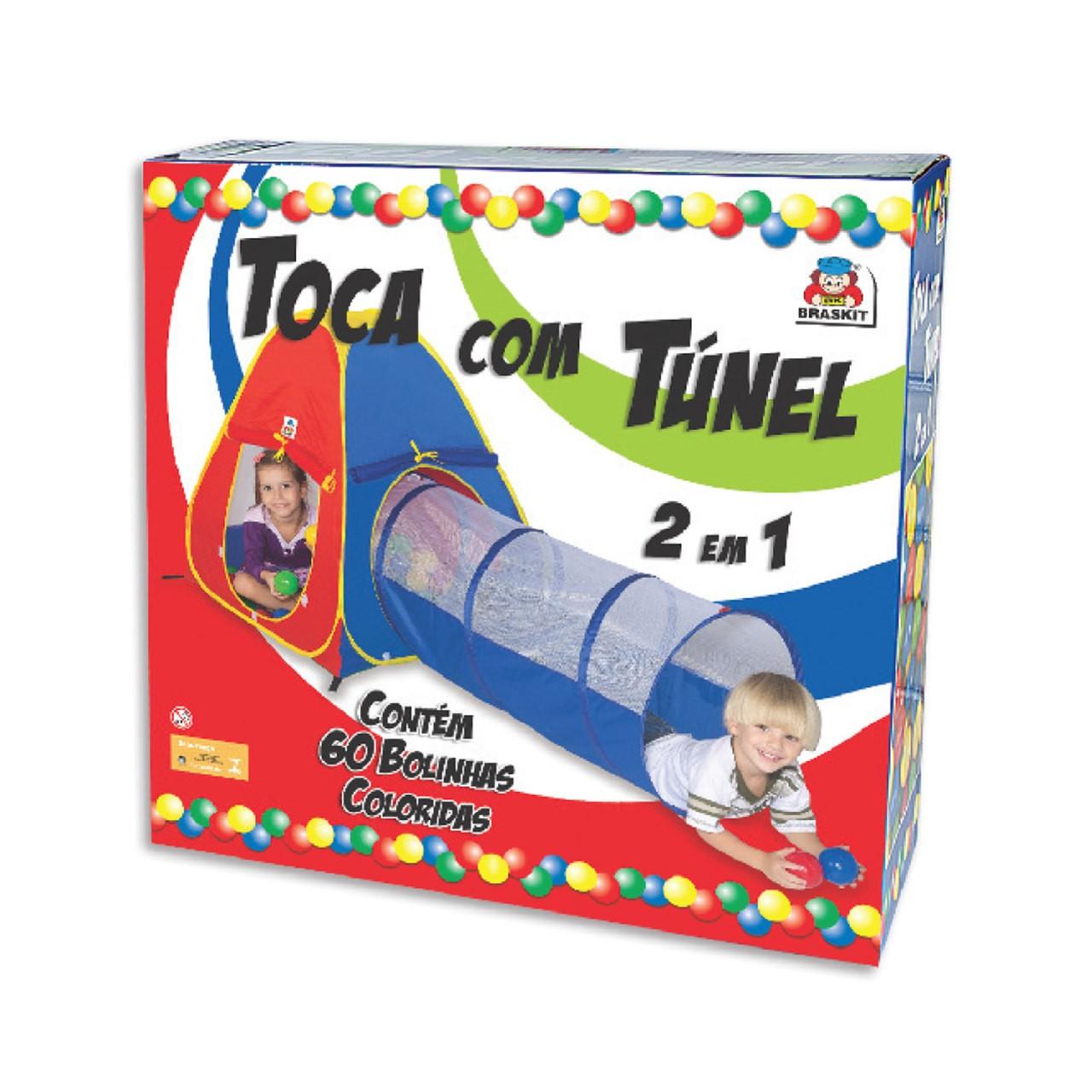 Barraca Toca Infantil 2 Em 1 Com 60 Bolinhas C/ Selo Inmetro
