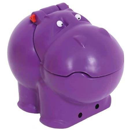 Bau Organizador Brinquedo Hipopotamo Hipo Bau Roxo Xalingo