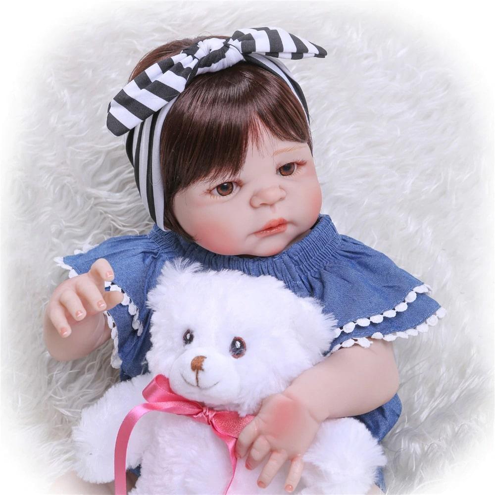 Boneca Bebê Reborn 100% Silicone Menina 55 Cm Pronta Entrega Isabella