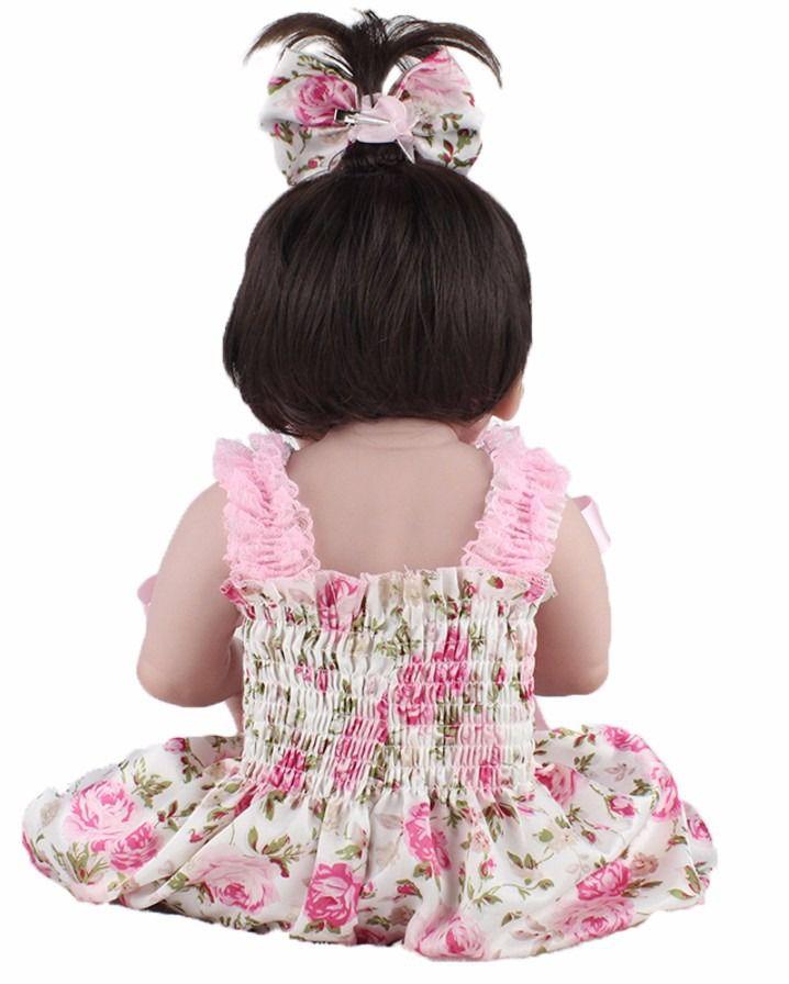 Bebê Reborn Boneca Reborn Menina Silicone Realista - DUPL