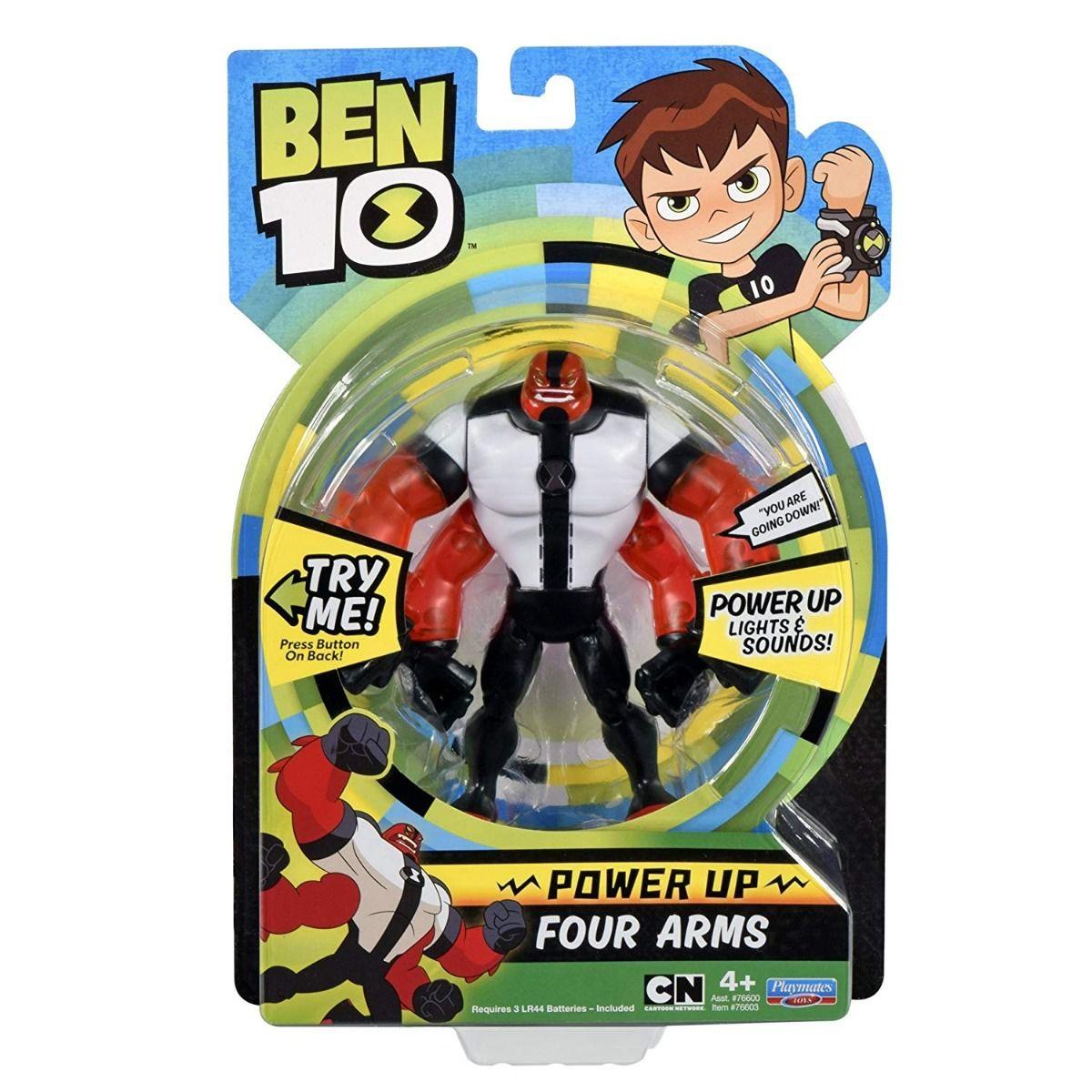 Ben 10 - Boneco C/ Luzes E Sons 15cm - Quatro Braços - Sunny