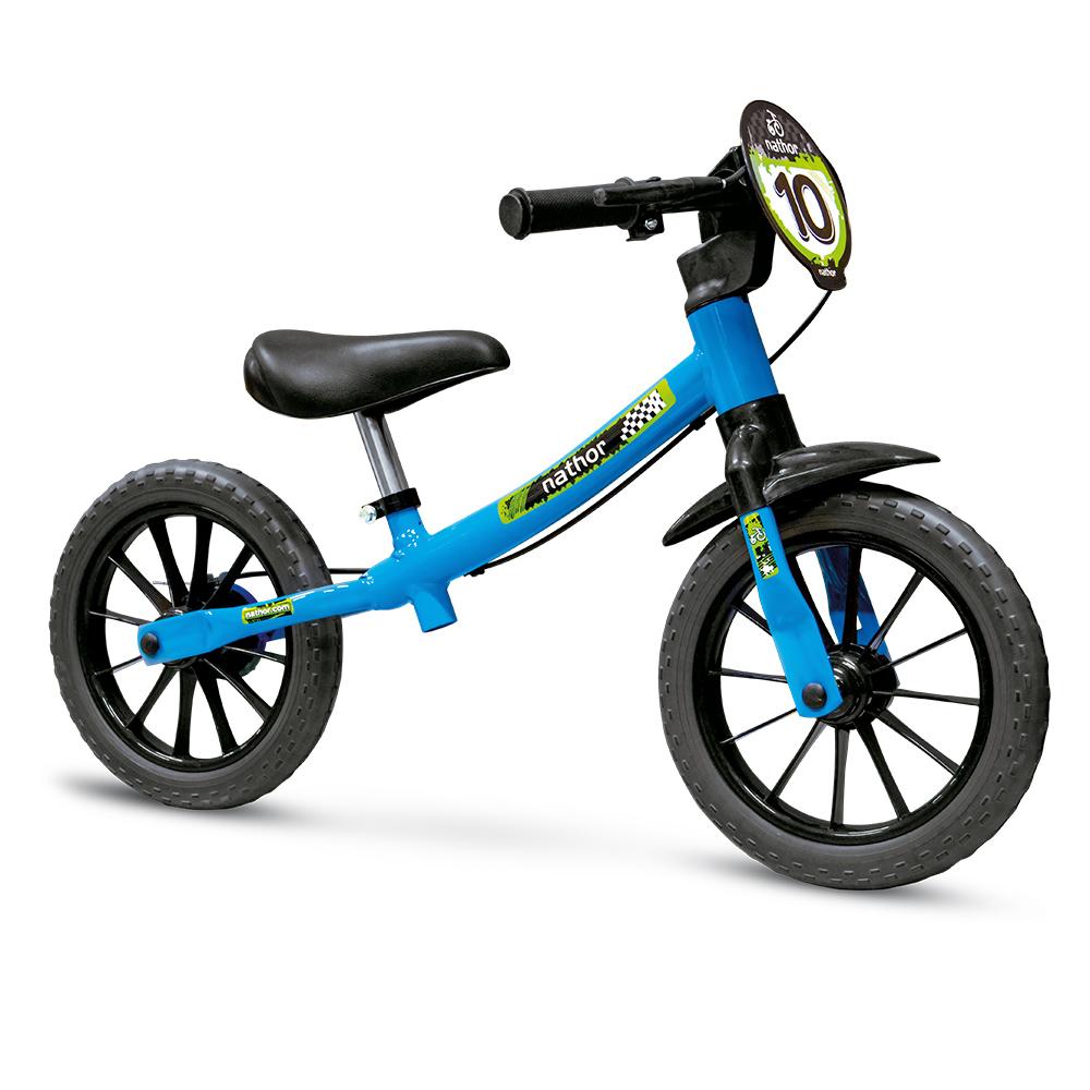 Bicicleta Infantil Menino Sem Pedal Azul Aro12 Balance Bike
