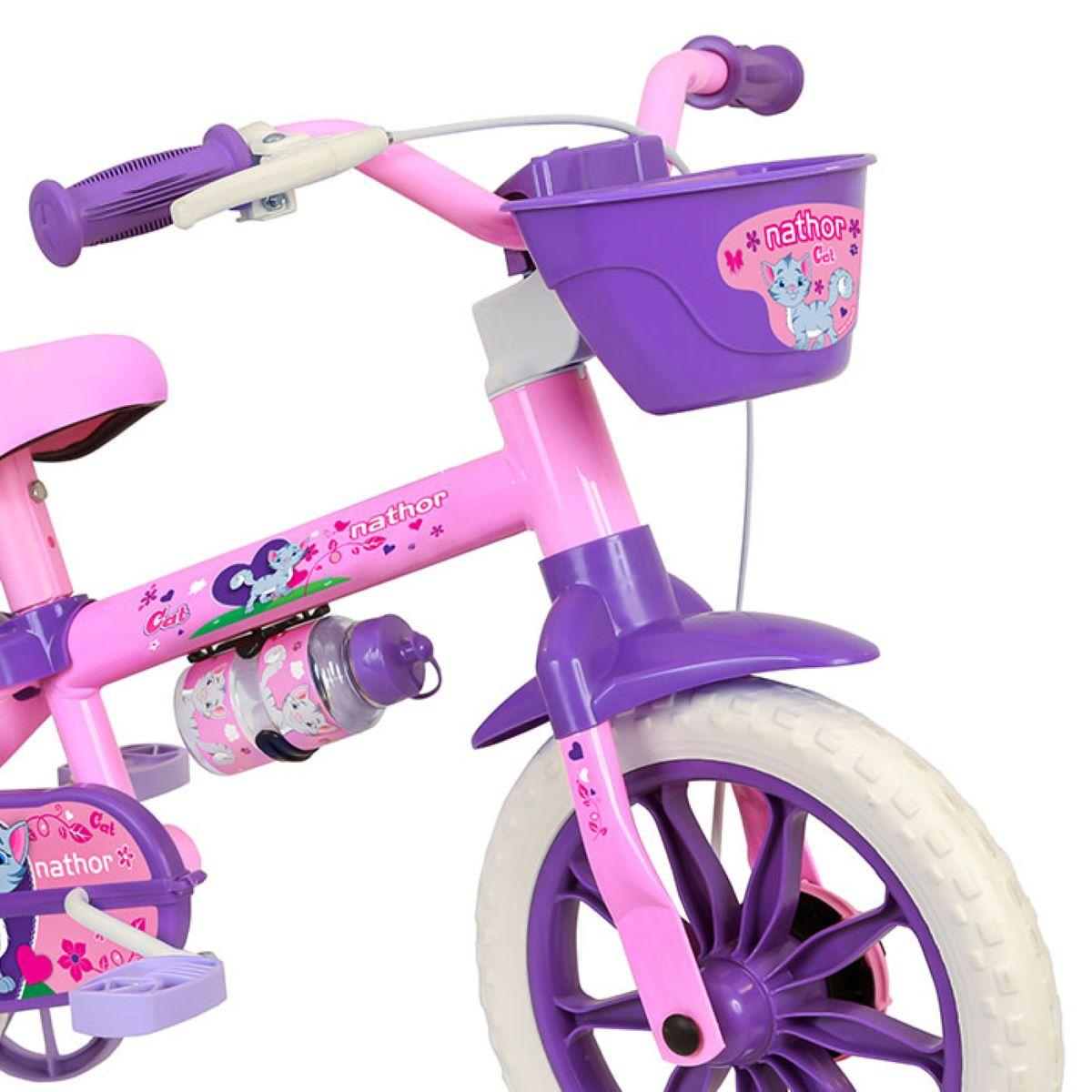 Bicicleta Infantil Nathor Aro 12 Menina Cat De 2 A 5 Anos