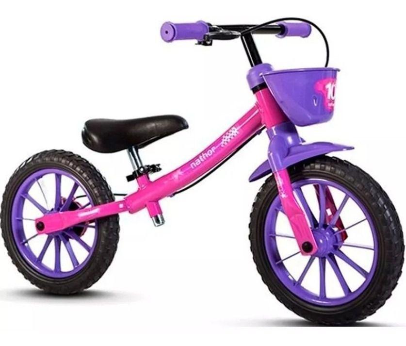 Bicicleta Sem Pedal Equilíbrio Balance Bike Rosa
