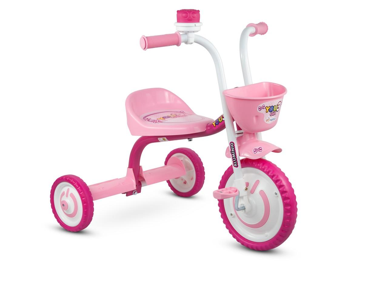 TRICICLO MOTOCA INFANTIL NATHOR VELOTROL YOU 3 BOY/GIRL ARO 5