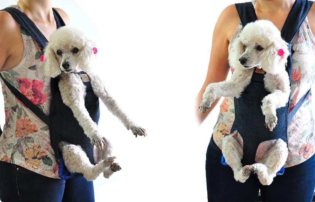 Bolsa Canguru Transporte Cães Cachorros Mochila Frontal Tamanho GG
