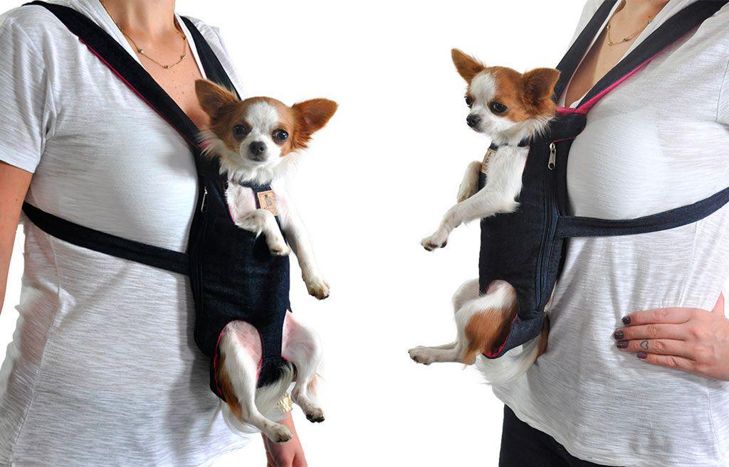 Bolsa Canguru Transporte Cães Cachorros Mochila Frontal Tamanho M