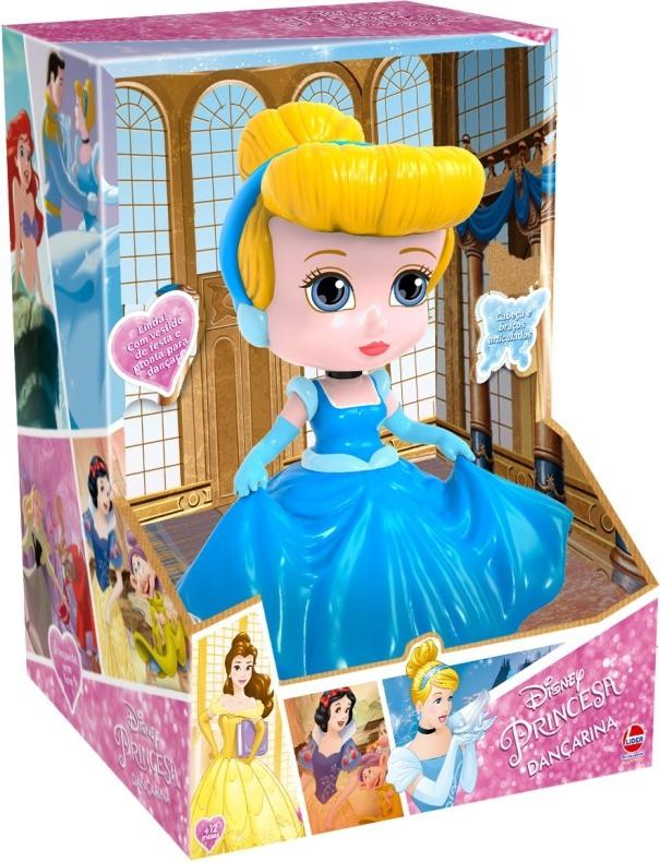 Boneca Dançarina Princesas Bella Cinderela Branca De Neve