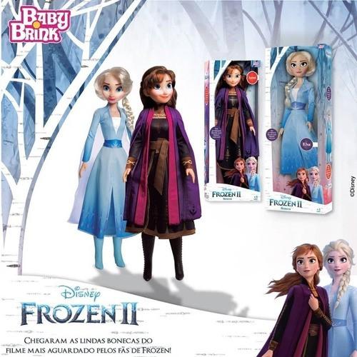 Boneca Elsa + Anna Frozen 2 55cm Disney + Envio Imediato