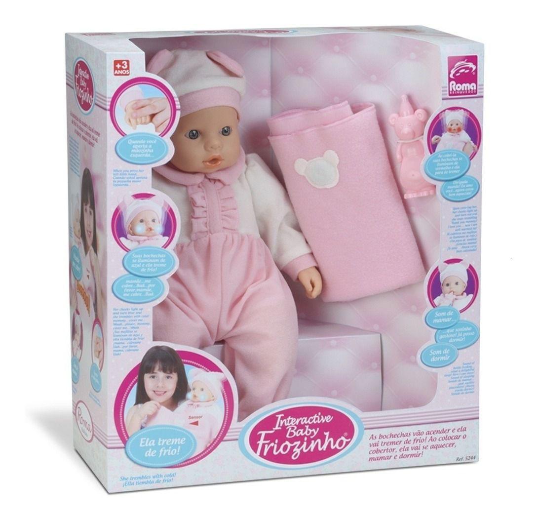 Boneca Interactive Baby Friozinho - Roma Brinquedos