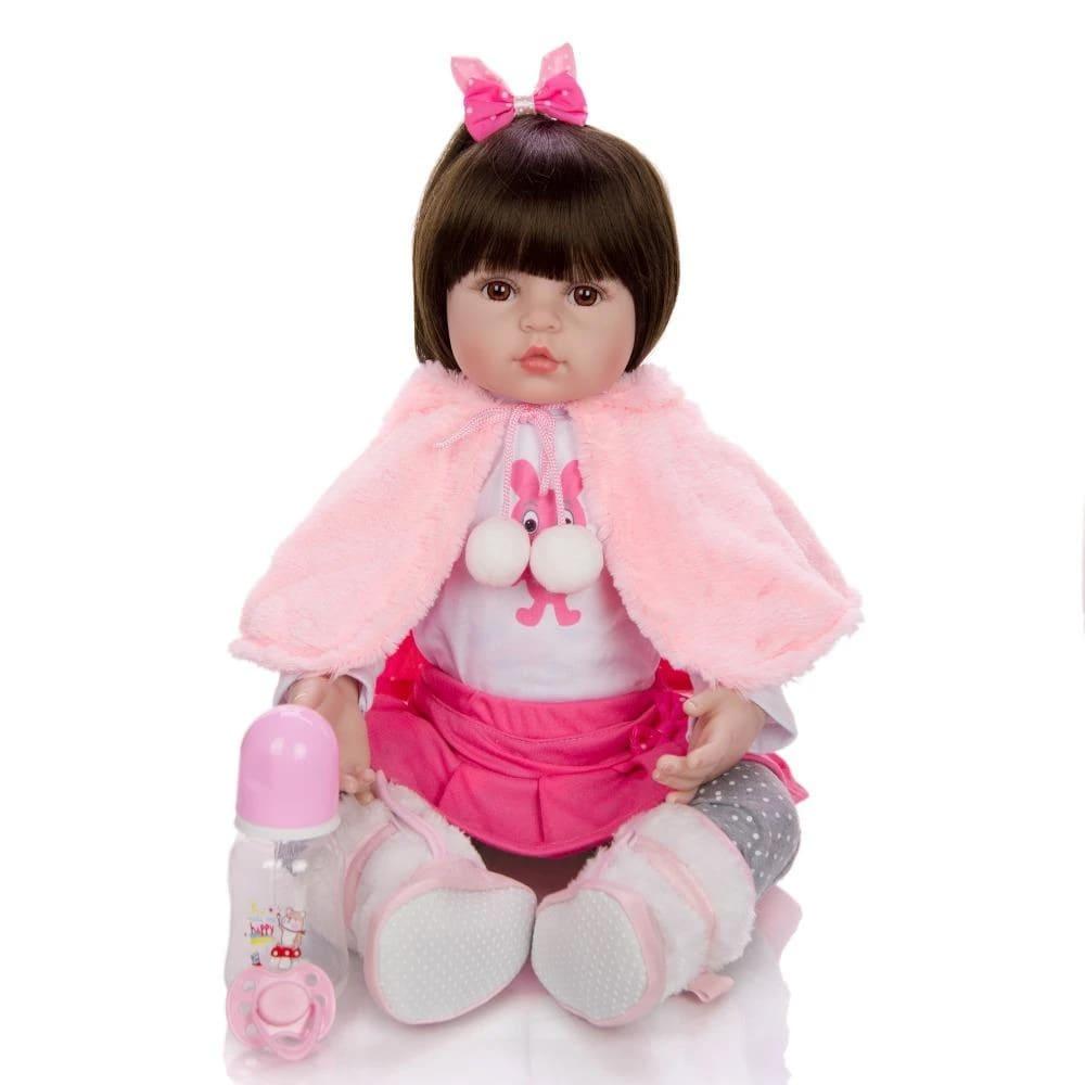 Boneca Reborn Bebê 48cm Silicone Lara Coelho