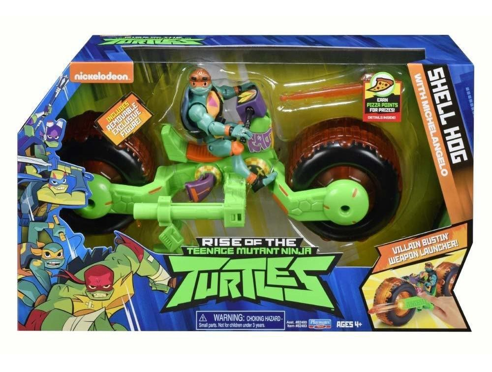 Boneco Figure Com Veiculo Tartarugas Ninjas Michelangelo Sunny 2043