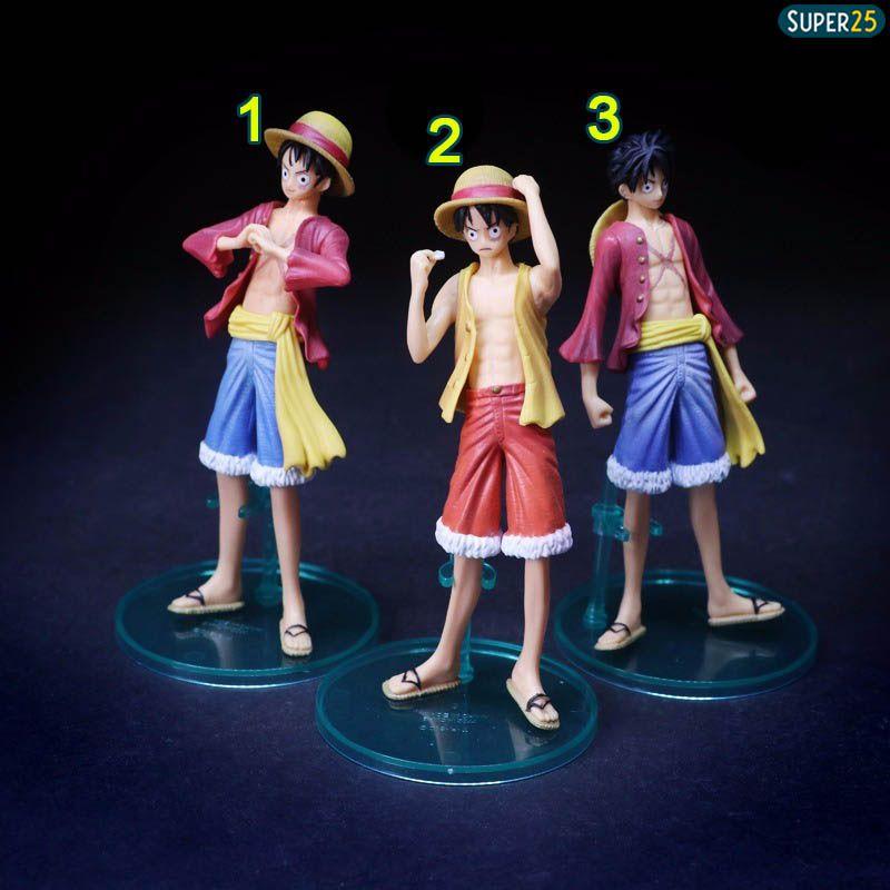 Boneco One Piece Styling Law Luffy Zoro Mihawk Figure Bandai