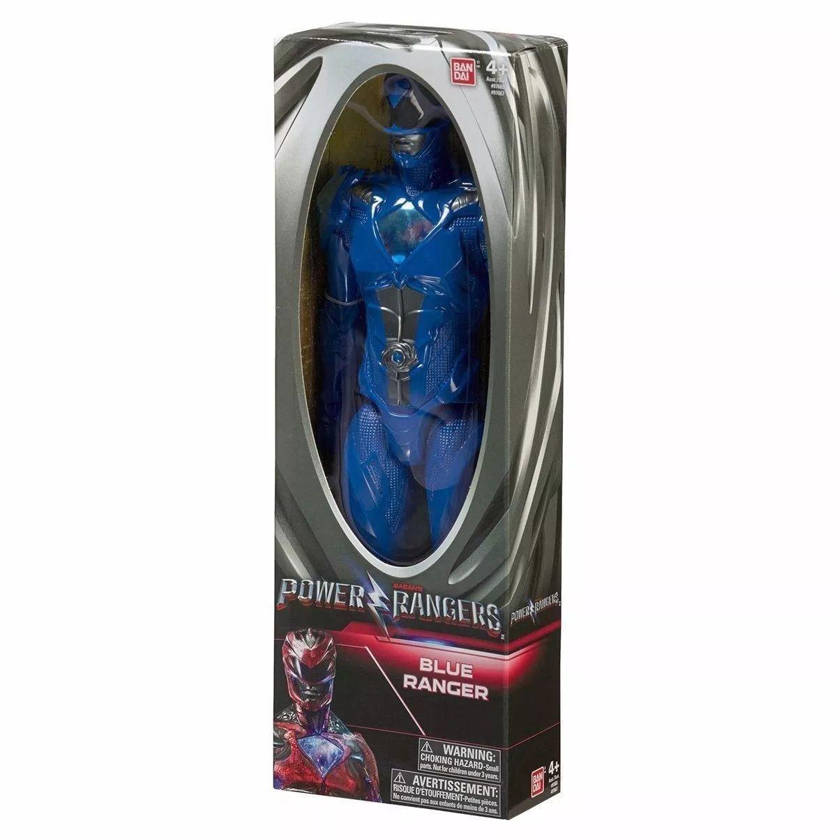 Boneco Power Rangers O Filme- Ranger Azul Billy 30cm- Bandai