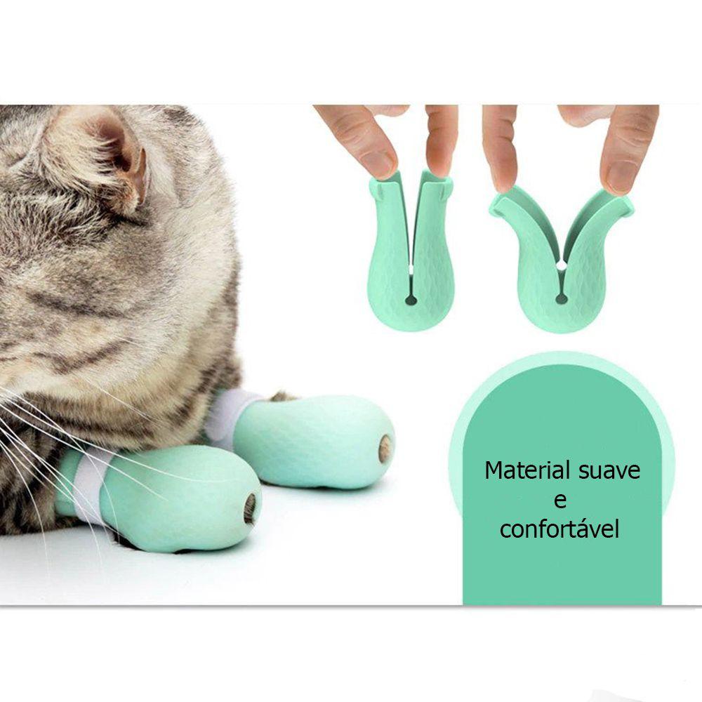 Botas Silicone Protetor Para Pet Gato Banho P
