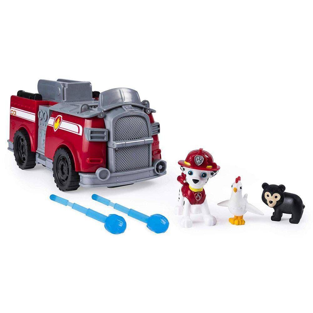 Brinquedo 2 Em 1 Carro E Cenário Patrulha Canina Marshall