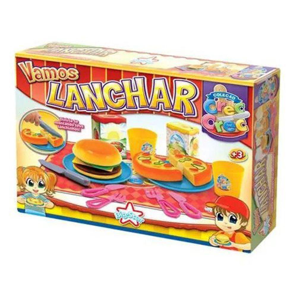 Brinquedo Crec Crec Comidinha Vamos Lanchar Pratinho Menina