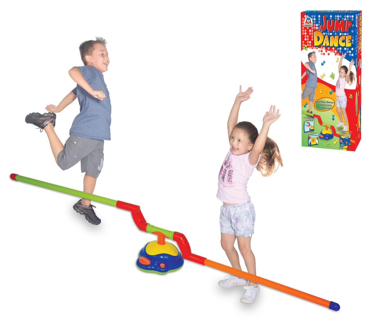 Brinquedo Jump Dance Jogo Barra De Pular Automático Braskit