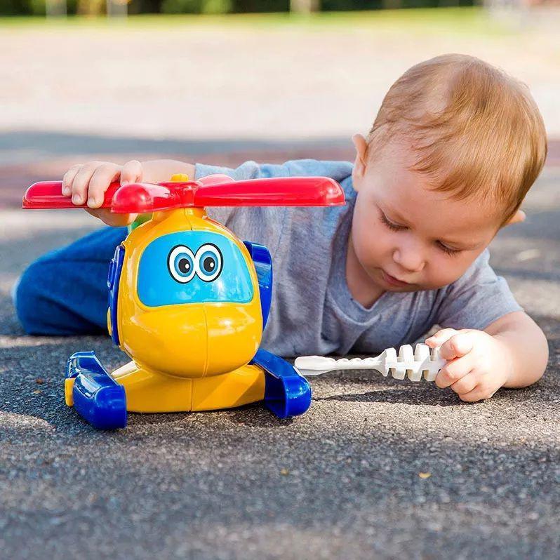 Brinquedo Menino Avião Helicóptero Infantil Criança Poliplac