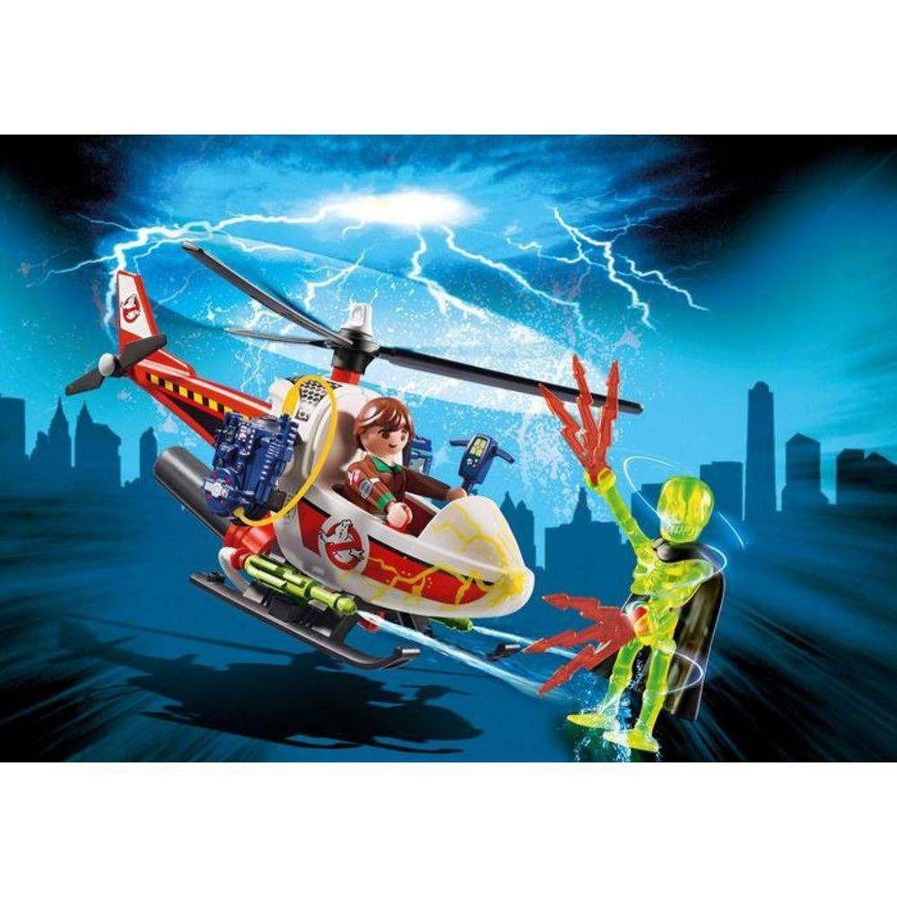 Brinquedo Playmobil Caça Fantasmas Helicóptero - 9385