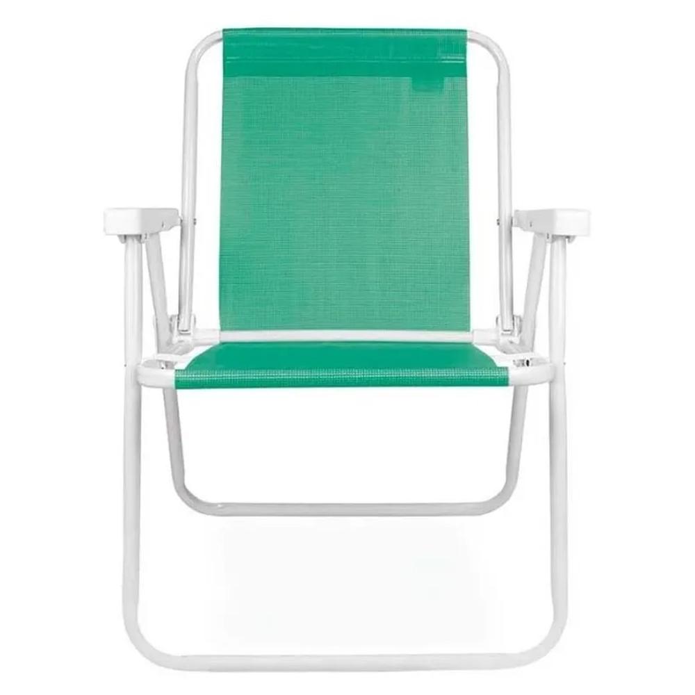 Cadeira De Praia Alta Alumínio Sannet Cores Mor
