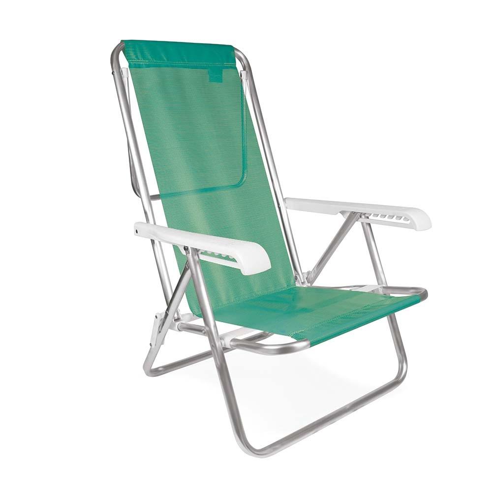 Cadeira De Praia Vira Espreguiçadeira Piscina Alumínio
