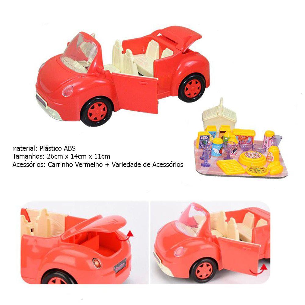 Carrinho Carro Peppa Pig E Familia - Mini Figuras Veículo