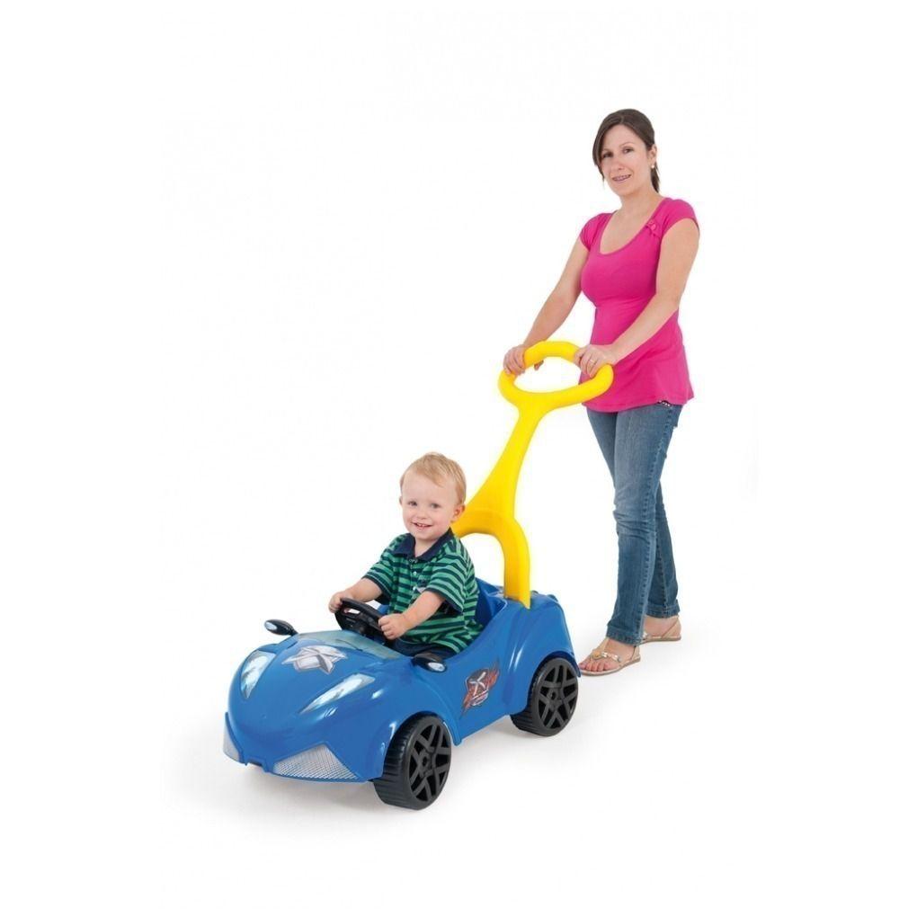 Carrinho Xtreme Criança Azul Com Empurrador E Pedal Xalingo