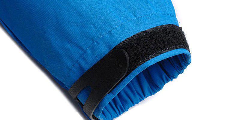 Casaco Jaqueta Blusa Agasalho Impermeável Frio Neve Inverno Azul