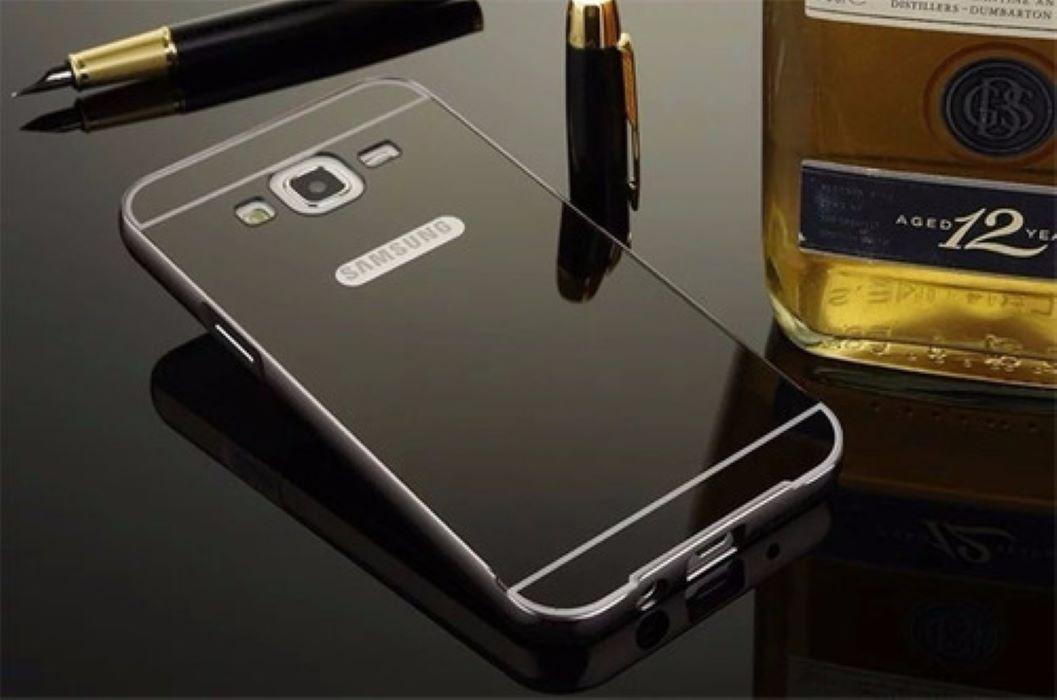 Case Bumper Metal Alumínio Espelhada Galaxy J2 J200 Capinha