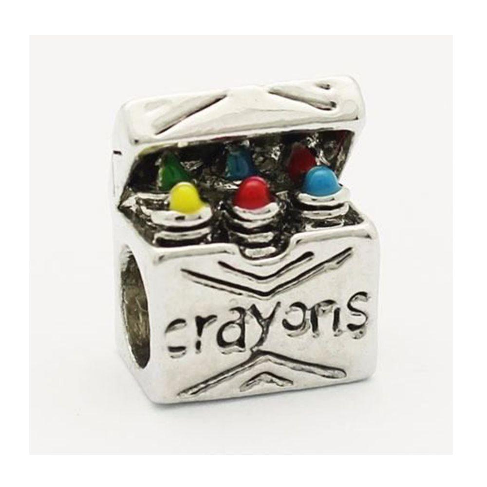 Charm Berloque Banhado Em Prata Crayon Pop P/ Pandora Vivara