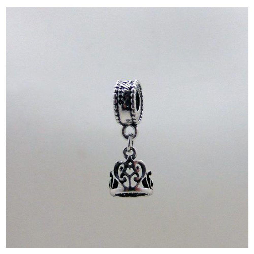 Charm Berloque Pandora Banhado Em Prata Coroa Branca De Neve