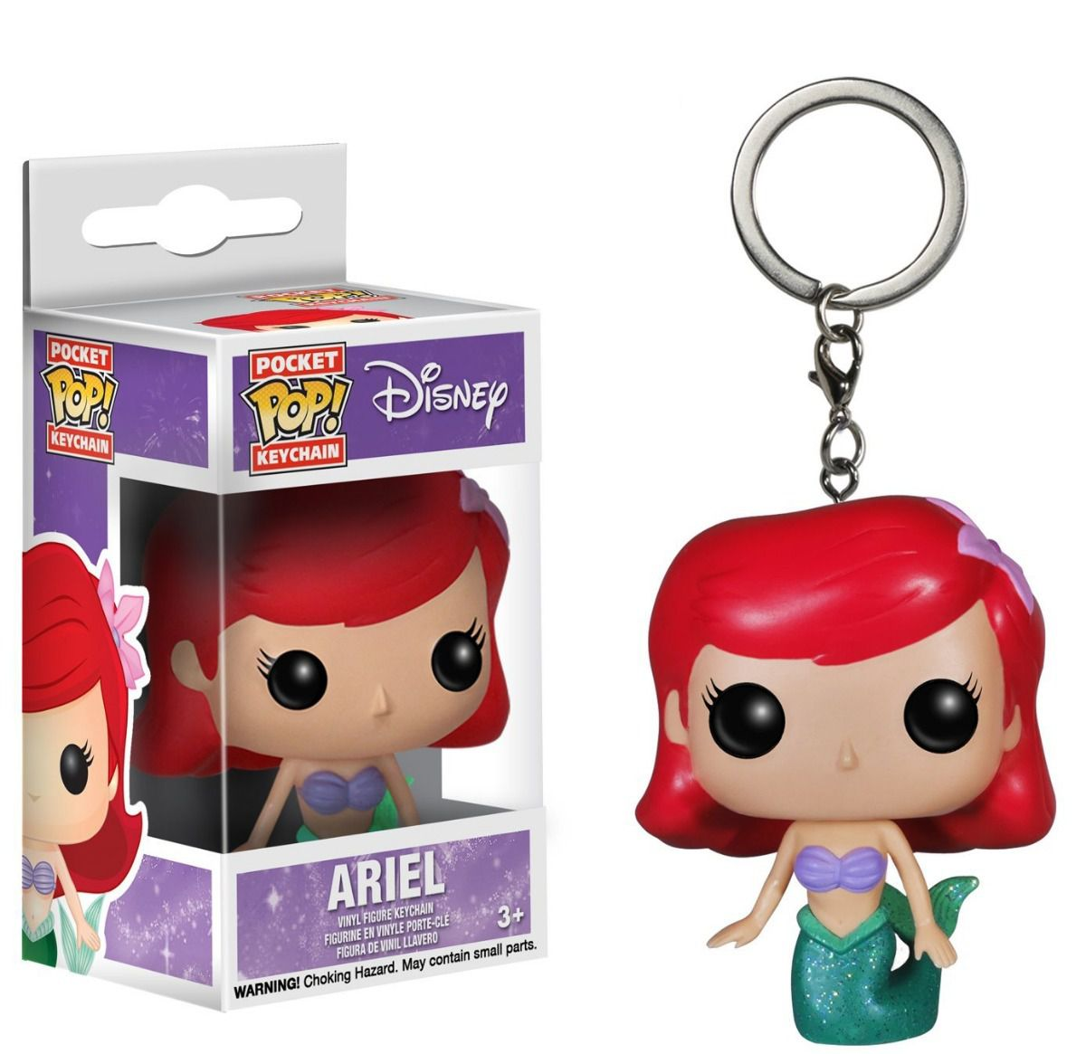 Chaveiro Ariel - A Pequena Sereia - Disney Pocket Pop! Funko