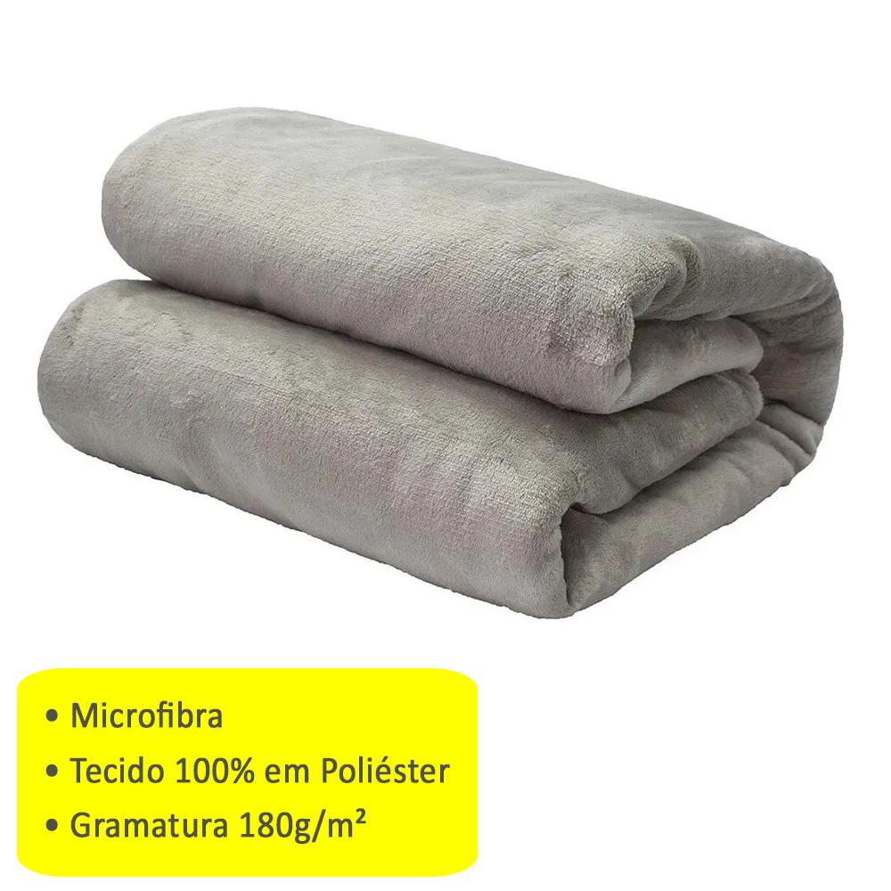 Cobertor Manta Microfibra Solteiro 2,20 X 1,50 Camesa