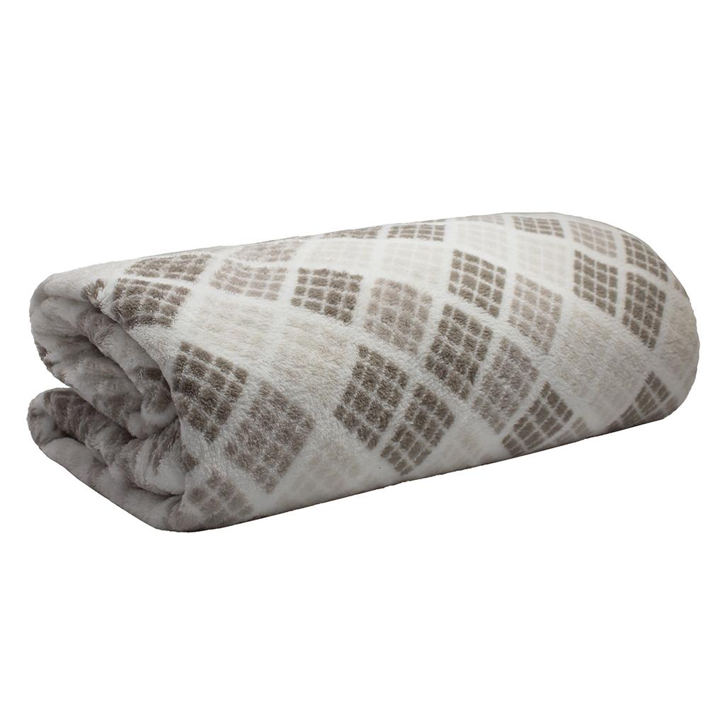 Cobertor Manta Microfibra Solteiro 2,20 x 1,50 Estampado Camesa