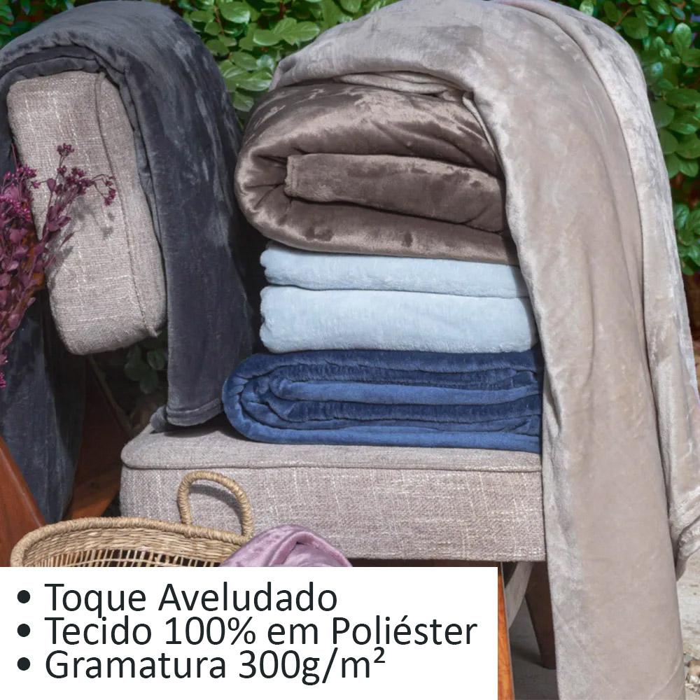 Cobertor Velour 300G Manta Queen 220x240 Microfibra Camesa Neo