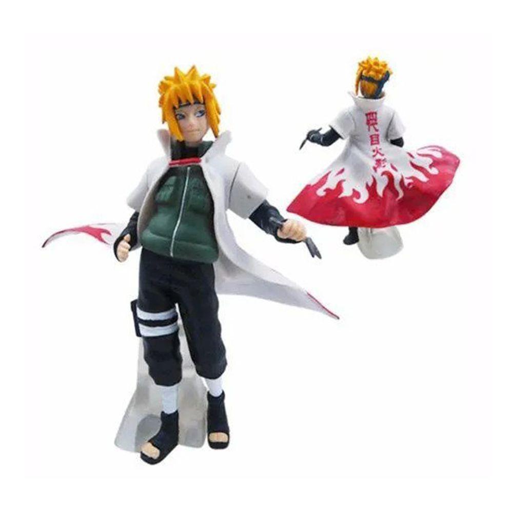 Coleção 5 Bonecos Naruto Uzumaki Kakashi Minato Sasuke Dbz