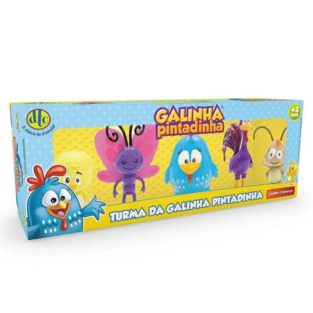 Colecao 5 Personagens Galinha Pintadinha Vinil - Lider 2147