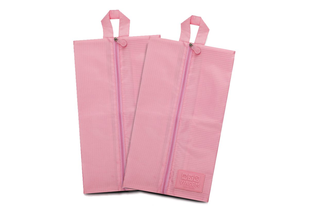 Conjunto De 2 Bolsas Porta Sapato Poliéster Jacki Design