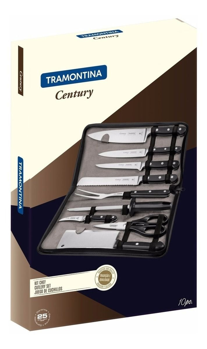 Conjunto Facas Tramontina Chef Century 10 Peças