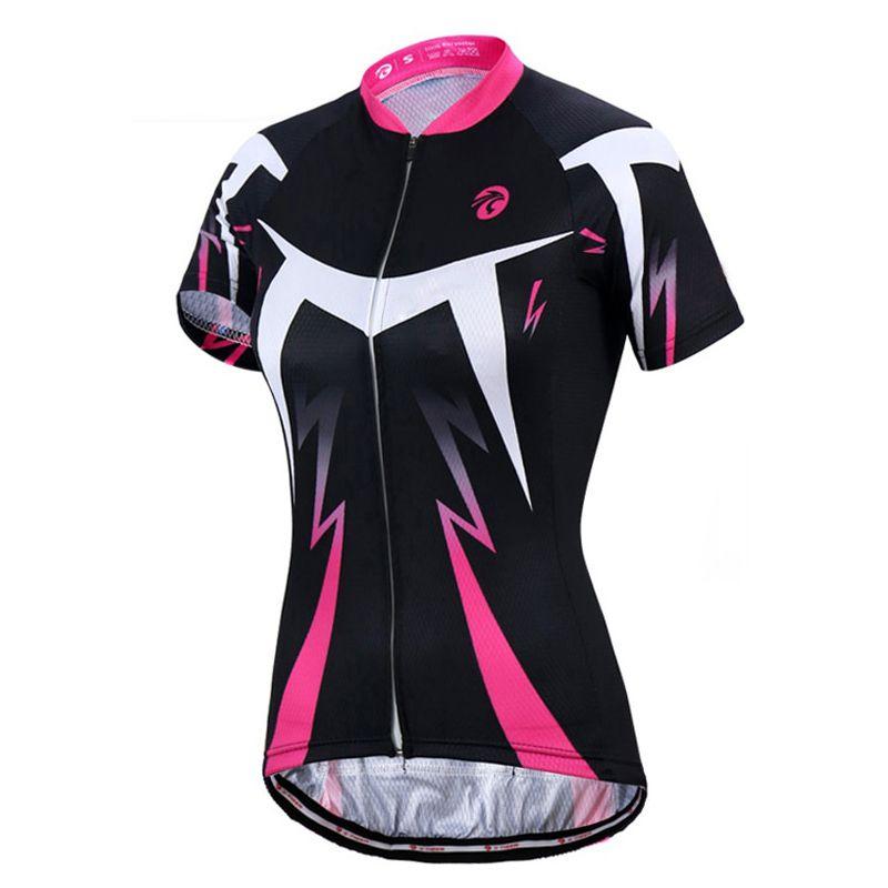 Conjunto Feminino Ciclismo Bike Short & Camisa Preto e Rosa