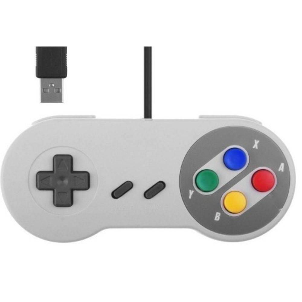 Controle USB Pc Video Game Super Pad Snes Joystick Retro - Importado